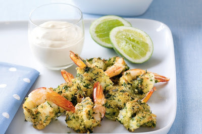 Butterflied Prawns With Lime Mayonnaise Recipe