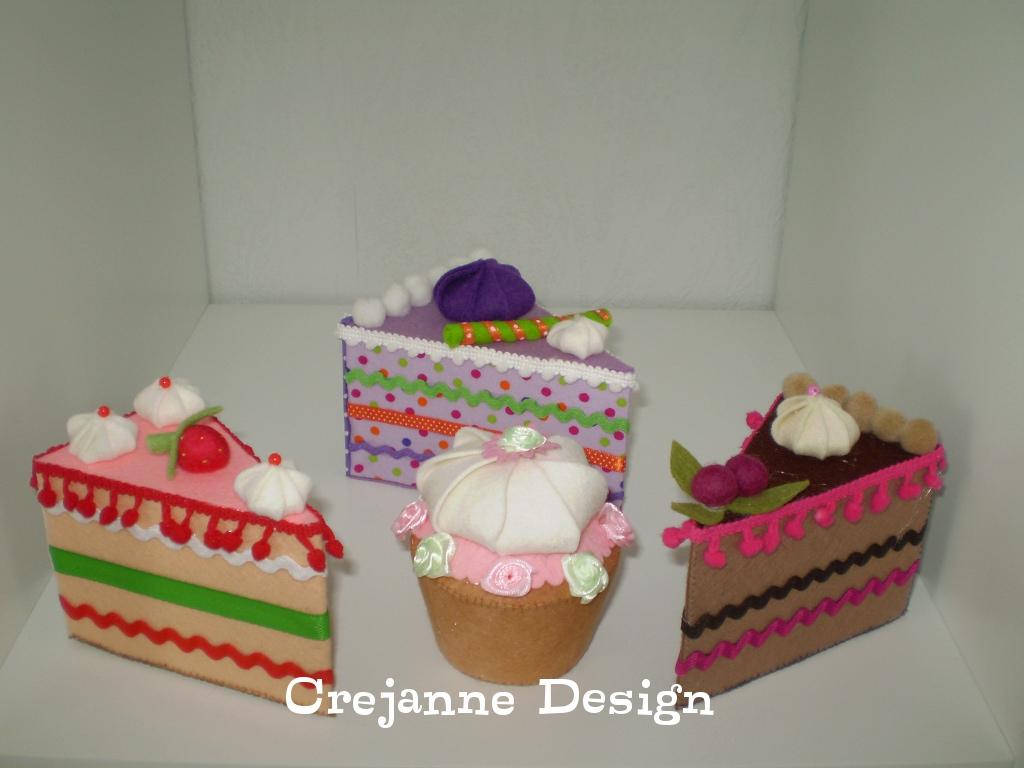 Crejanne Cupcake En Taartpunten Van Vilt En Stof