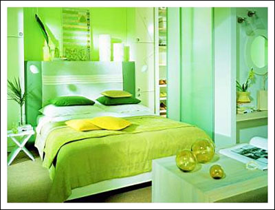 Interior  Room Design on Future House Design  Stylish With Interior Green Bedroom Design