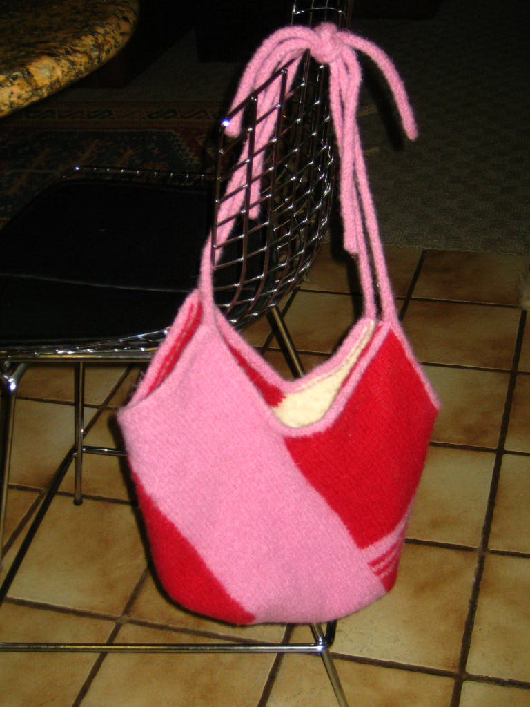 Marzipanknits: The Windmill Bag -- a hand knit converted to machine knit