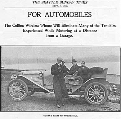 Caballeros hablando por teléfono junto a un automóvil