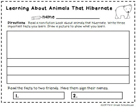 Classroom Freebies Too: Studying Animals That Hibernate