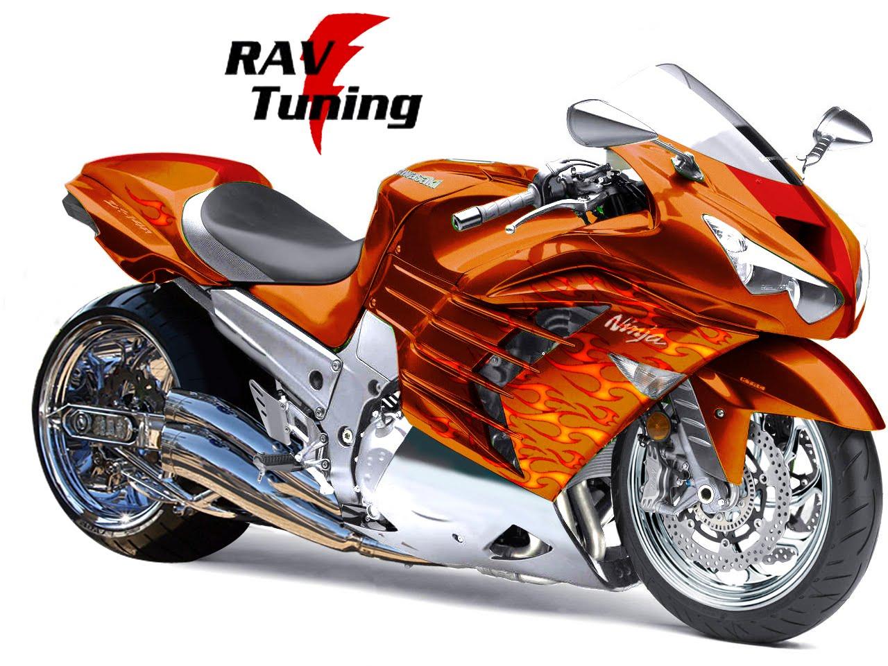 Rav Tuning: The flaming NINJA ZX-14R 2012 !!!