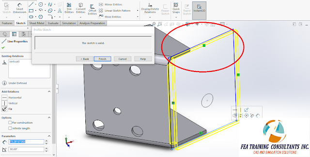 solidworks sheet metal edit flange profile