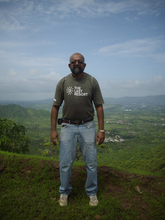 Trekking to Prabalgad Fort.