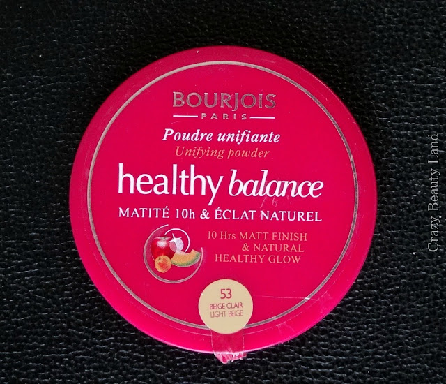 Bourjois Healthy Balance Powder 53 Light Beige / Beige Clair Review Price Swatches Demo India