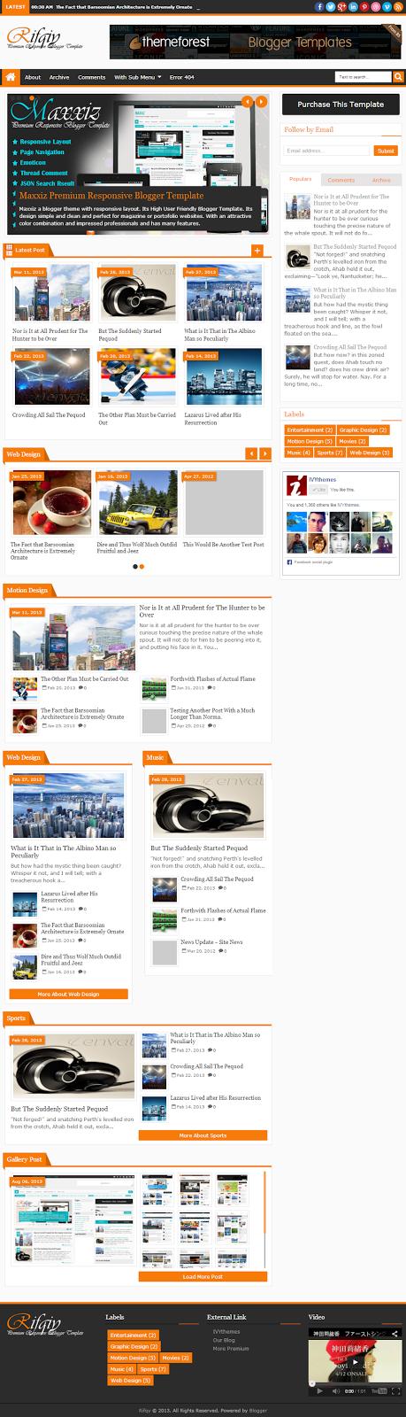 Download Free Rifqiy Responsive Magazine/News Blogger Template 2