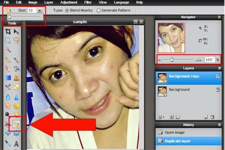Edit Foto Menghaluskan Wajah