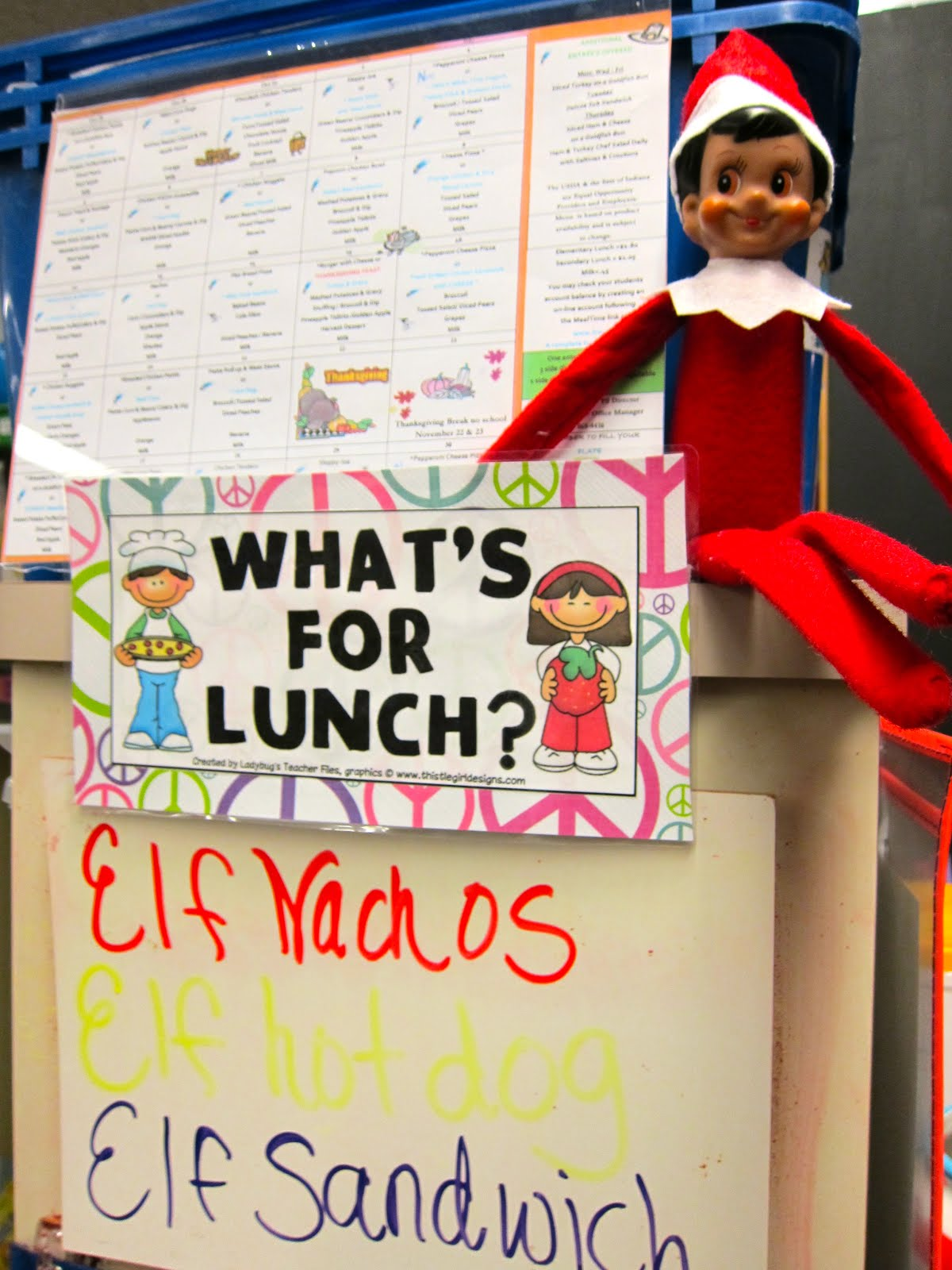 Classroom Elf Ideas ~ Peace love first grade elf on the shelf holiday fun