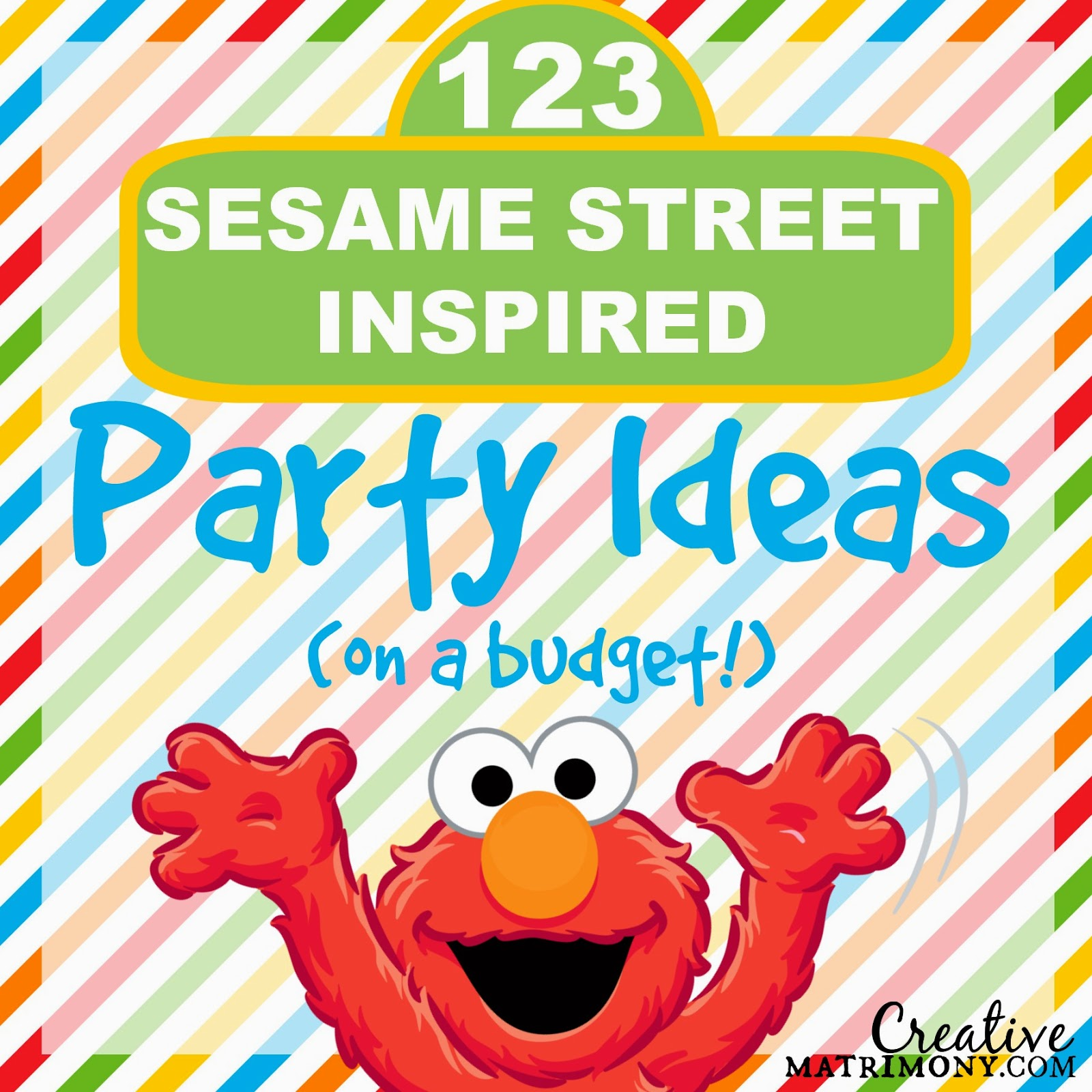 Sesame Street Birthday Party on a Budget