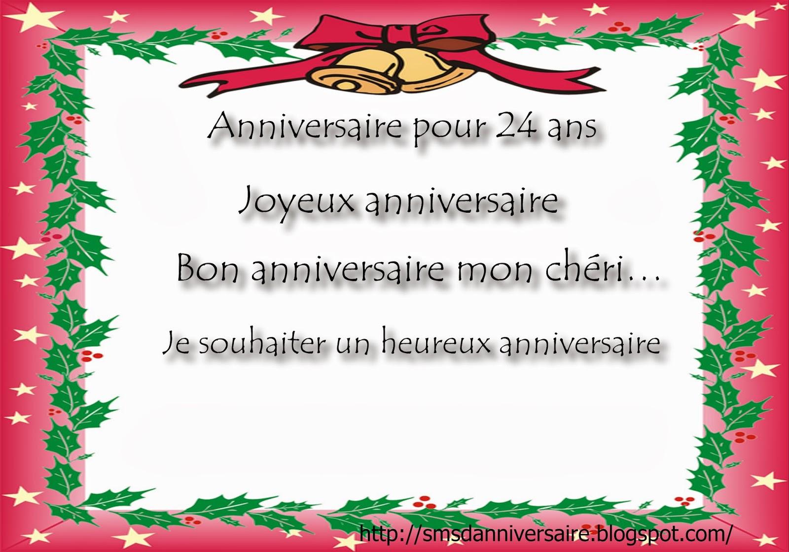 Sms D Anniversaire Pour 24 Ans