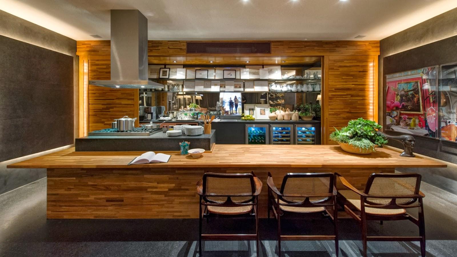 cozinha com uma proposta moderna diferente e claro com destaque para  #6E4016 1600 900