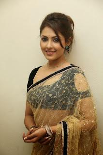 Actress Madhu Shalini Latest Pictures in Saree at Seethavalokanam Press Meet  024