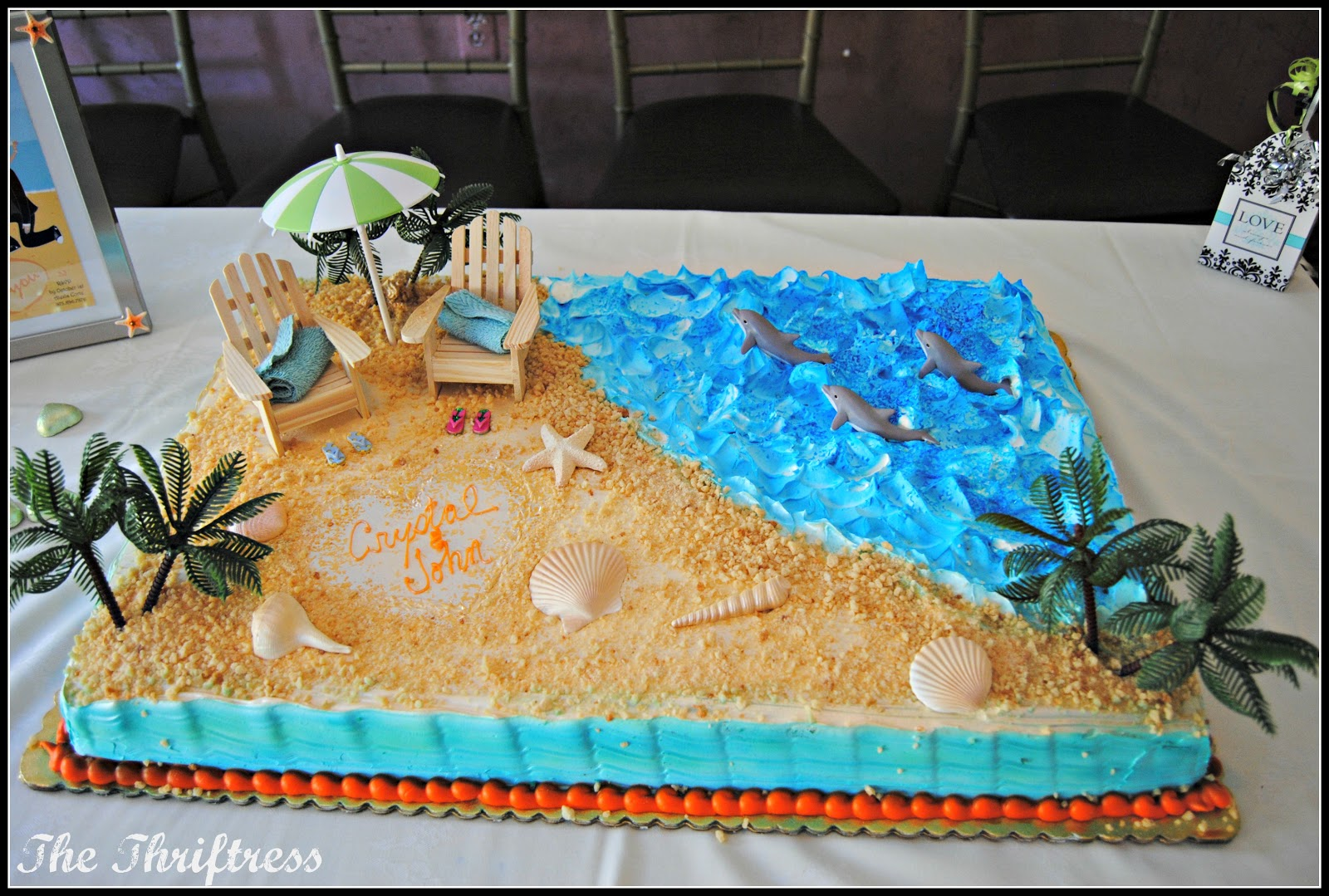 beach themed cakes pictures