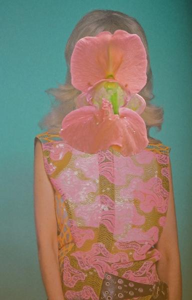 vintage 1960s girl in pink