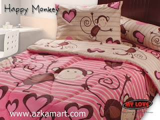 Sprei My Love Happy Monkey