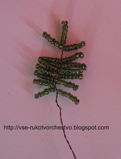 Дерево из бисера елочка из