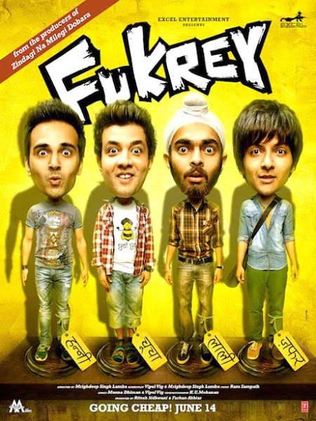 Poster Of Fukrey 2013 720p BluRay Hindi