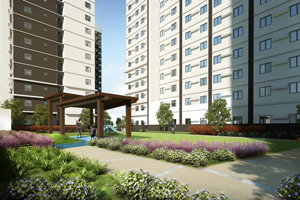 Landscaped Area at Avida CityFlex Towers BGC