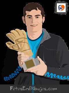 foto en dibujo - medio cuerpo - Iker Casillas