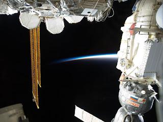 Nave Soyuz en la Estación Espacial