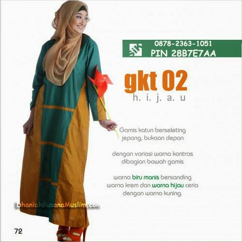 Gamis Sik Clothing GKT 02 Hijau