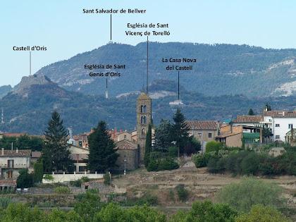 Vistes de ponent des del Serrat de la Miraculosa