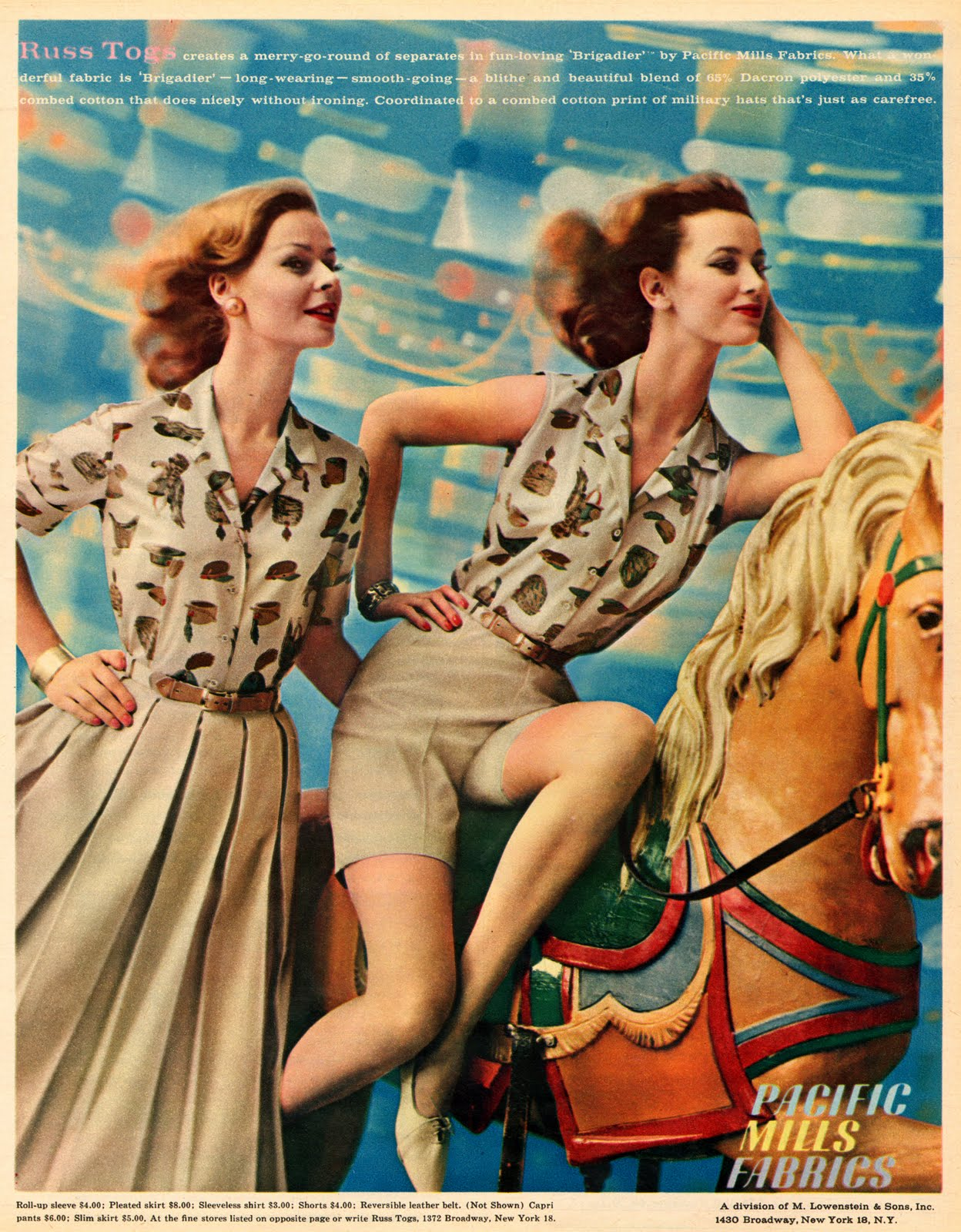 Vintage clothes fashion ads of the 1940s page 22 - 17 Bright And Colorful Fashion Adverts From Seventeen Magazine