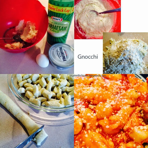 Ingredients for gnocchi
