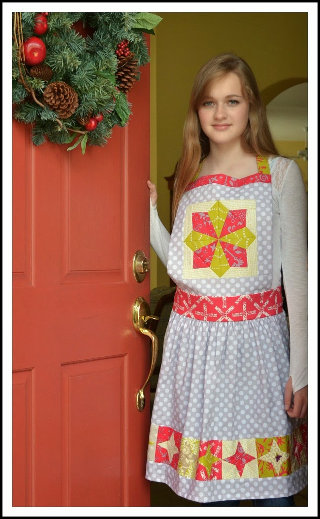 holiday apron alison glass fabric and celestial the sewing chick blog