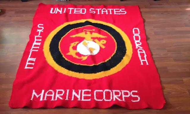 Crochet Parfait: Personalized Marine Corps Afghan