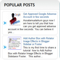 Customize Blogger's Official Popular Posts Widget