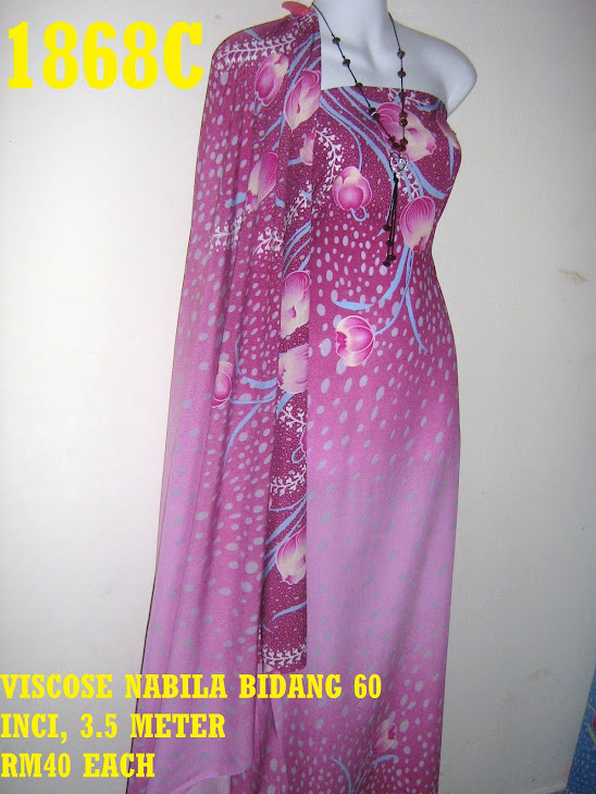 VN 1868C: VISCOSE NABILA BIDANG 60 INCI, 3.5 METER