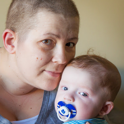 Amanda Simpson with son Gordon between hospital stays in September 2013.