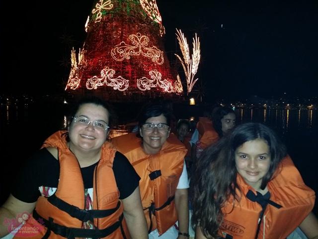Passeio de barco até a árvore de Natal da Lagoa