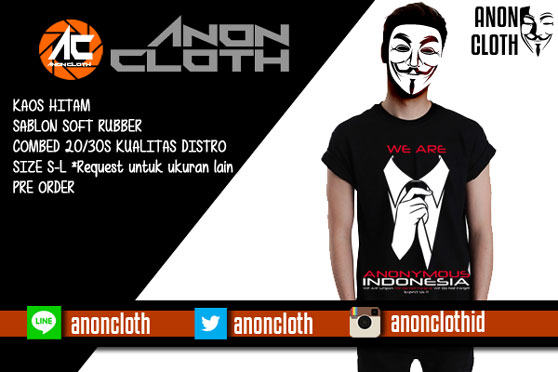 Kaos Anonymous Indonesia