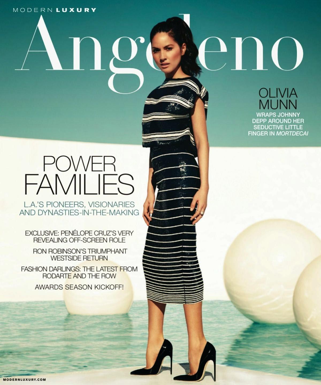 Actress, Model: Olivia Munn for Modern Luxury Angeleno