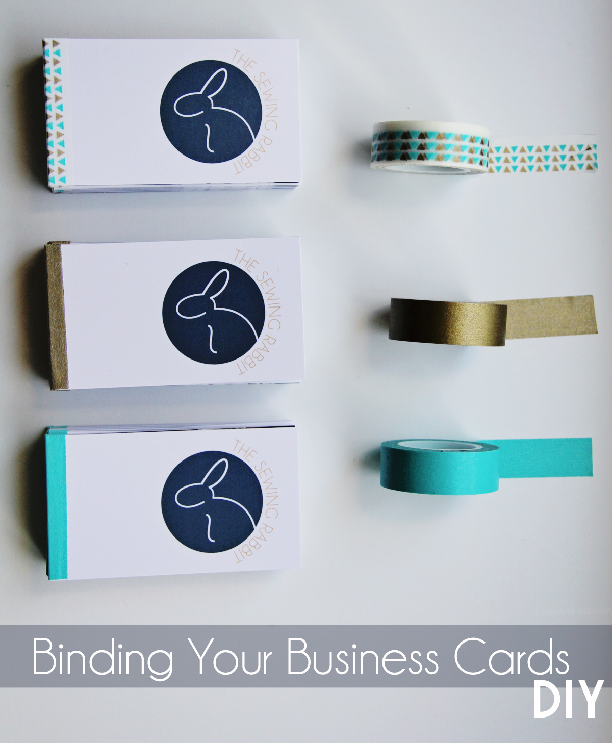 Turn your Business Cards into a Mini Book - The Sewing Rabbit