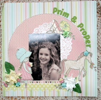 Prim & Proper Kit 25 1 layout and 2 cards