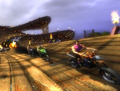 لعبة سباق الدراجات النارية Crazy Serpentine