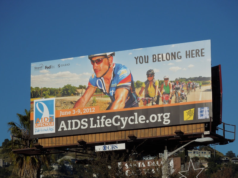 AIDS Life Cycle 2012 billboard