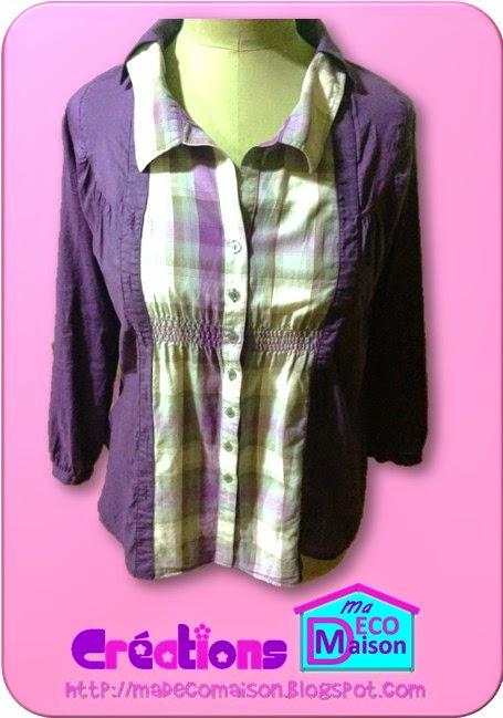 Chemise customisée avec une autre chemise 1