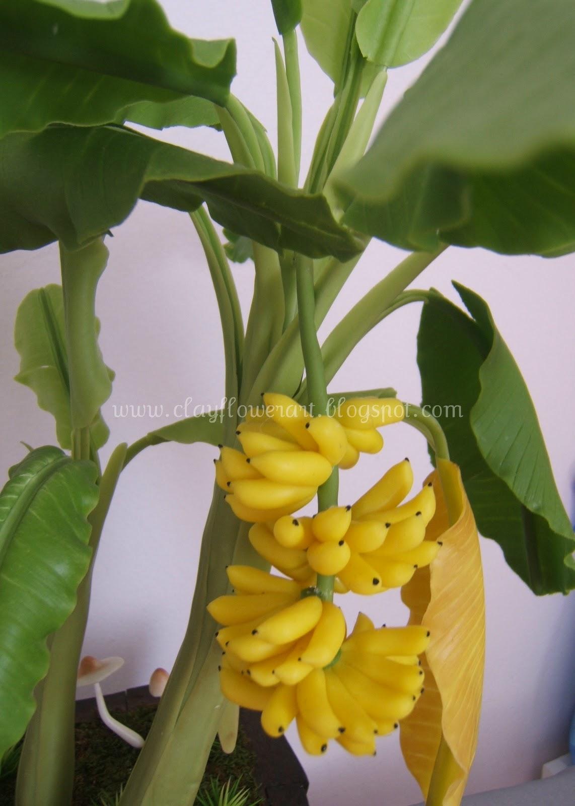 Banana Tree Clay Flower Art