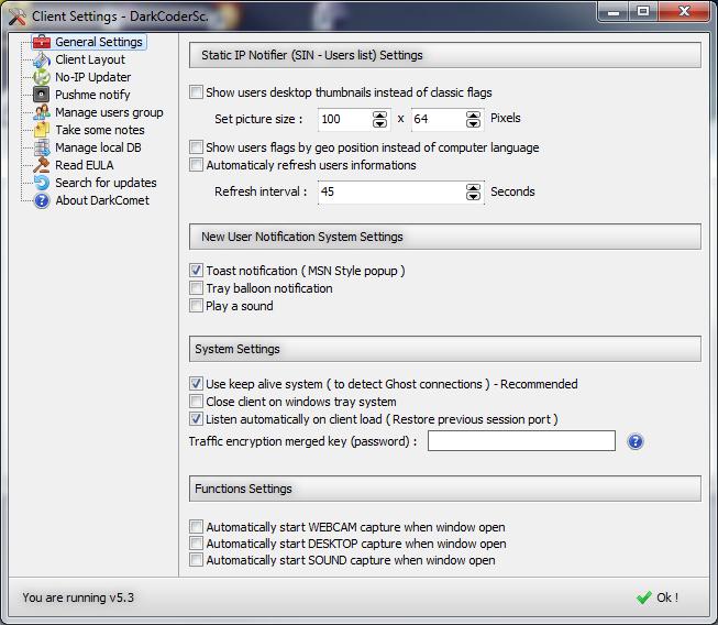 Dark-comet 5.3.1 Fix 1 برنامج دارك كومنت