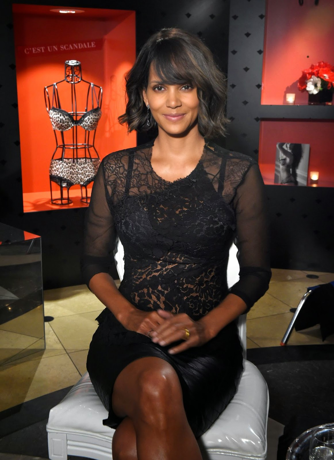 Halle Berry launches her line of affordable lingerie 'Scandale Paris' in New York