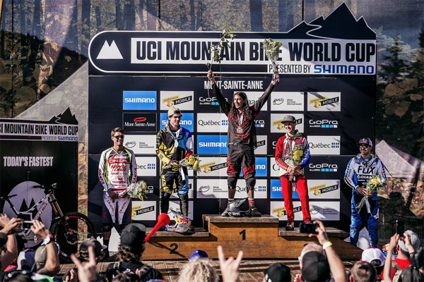 2015 Mont Sainte Anne UCI World Cup Downhill: Men's Podium Results