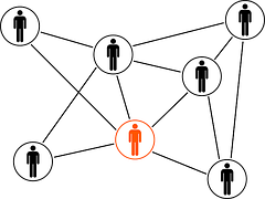 image of people linked together