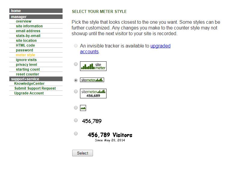 Mengetahui Traffict Jumlah Pengunjung Blog/ Website Dengan Sitemeter 5