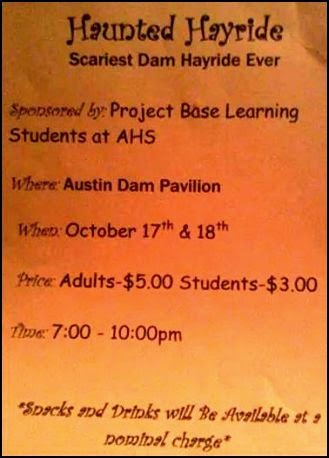 10-17/18 Haunted Hayride At Austin Dam