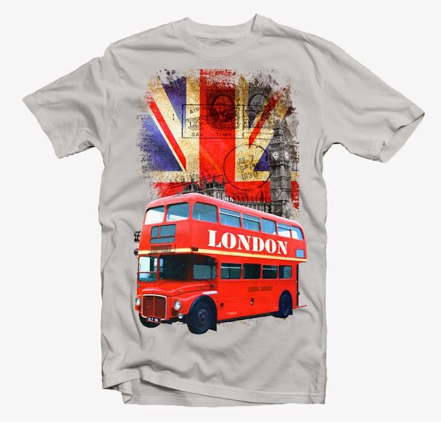 london bus tshirt